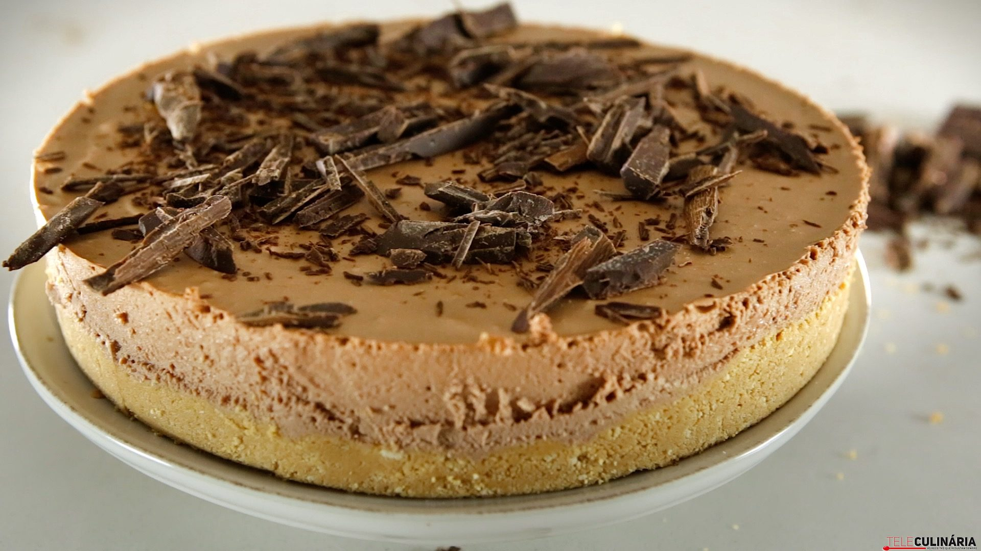 cheesecake de chocolate com manteiga de amendoim