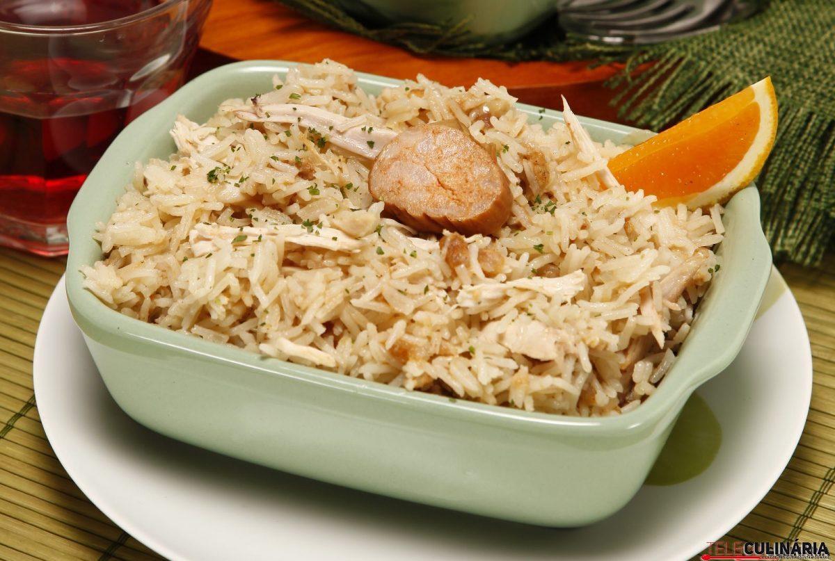 arroz de frango do campo com farinheira