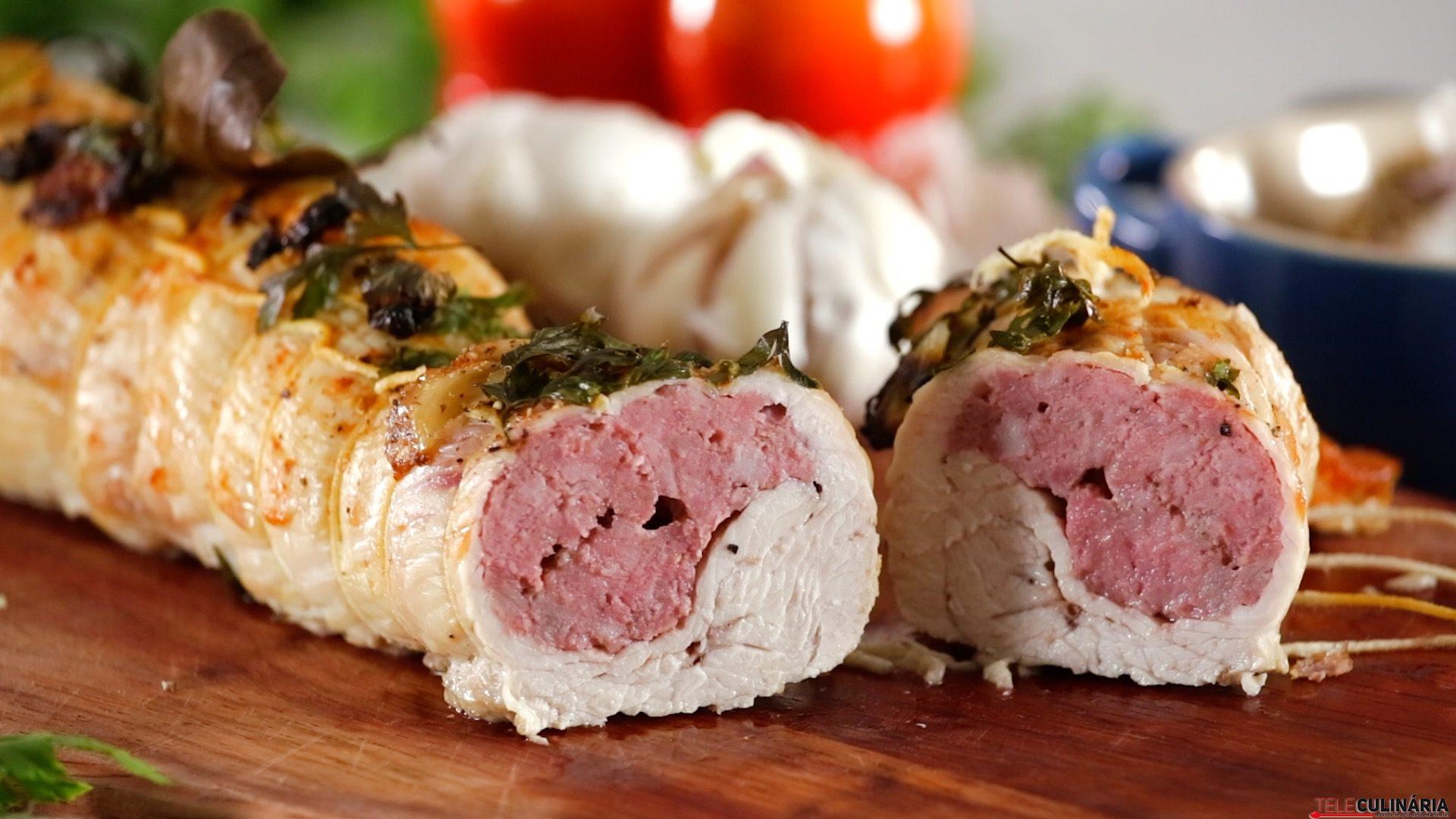 0418 Rolo de peru com salsichas frescas CHPS