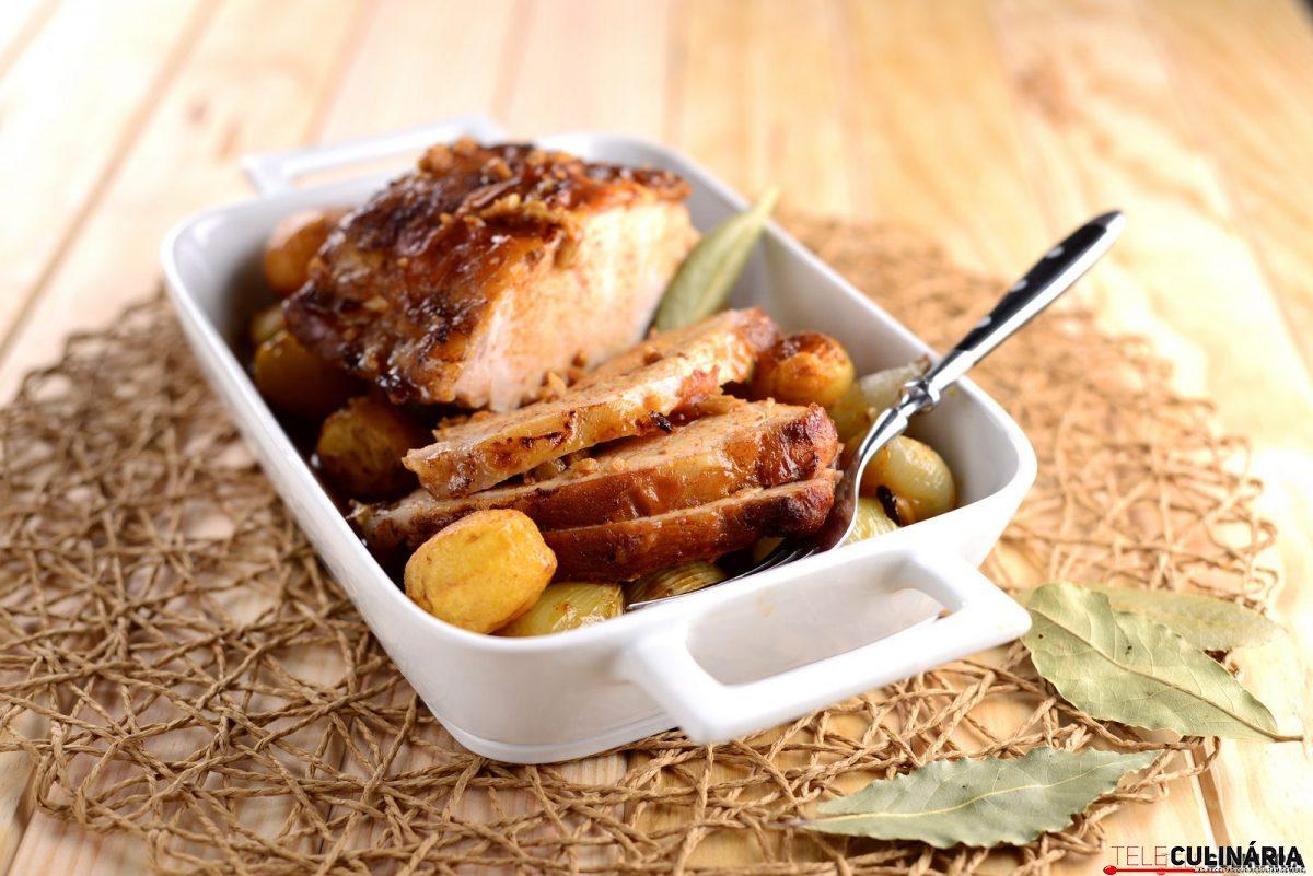 lombo de porco no forno