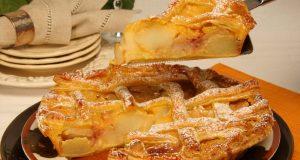 tarte de maçãs assadas