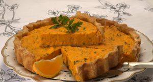 Tarte salgada de cenoura e laranja