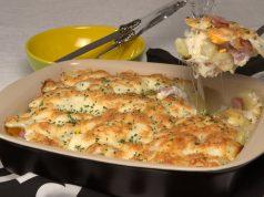 batatas mistas com queijo e fiambre