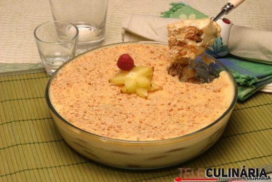 delícia de bolacha e leite condensado