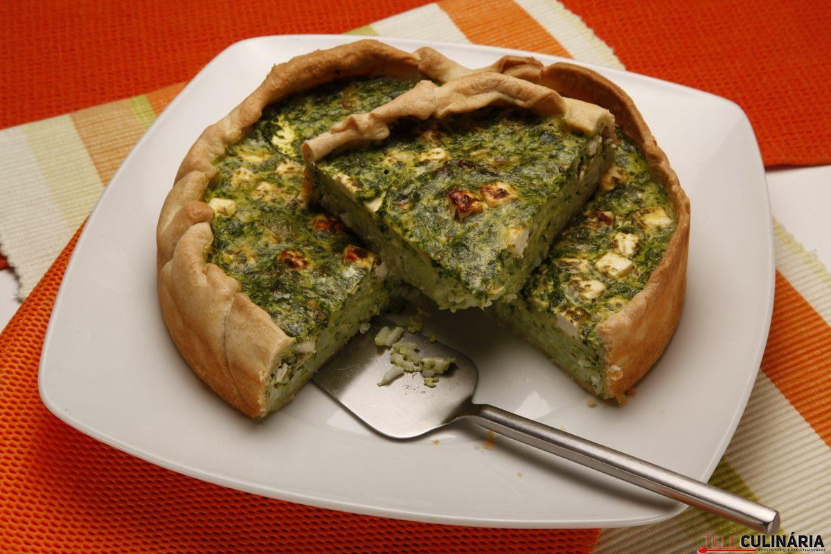 tarte de espinafres e queijo feta