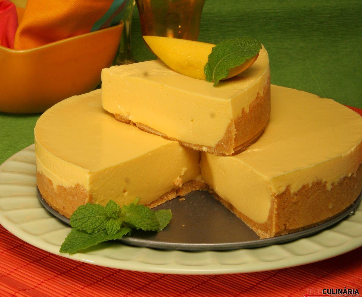 Receita de cheesecake de manga