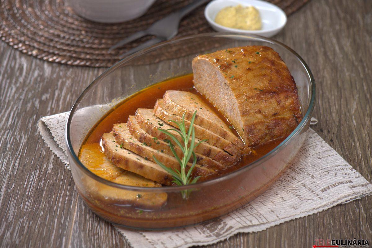 lombo de porco com molho de mostarda