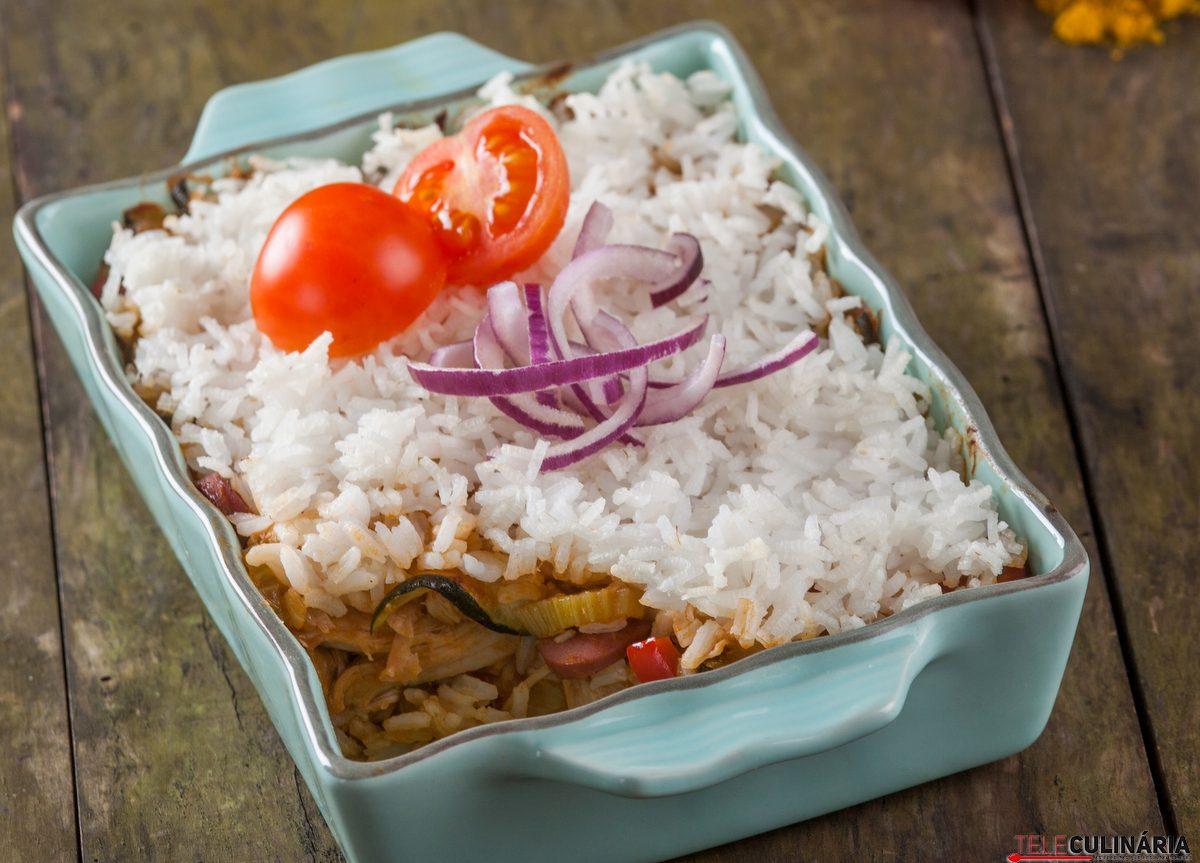 arroz de frango tradicional