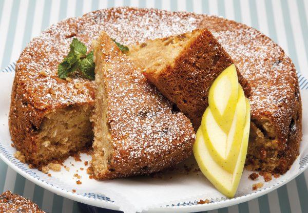 bolo de aveia com maca e sultanas