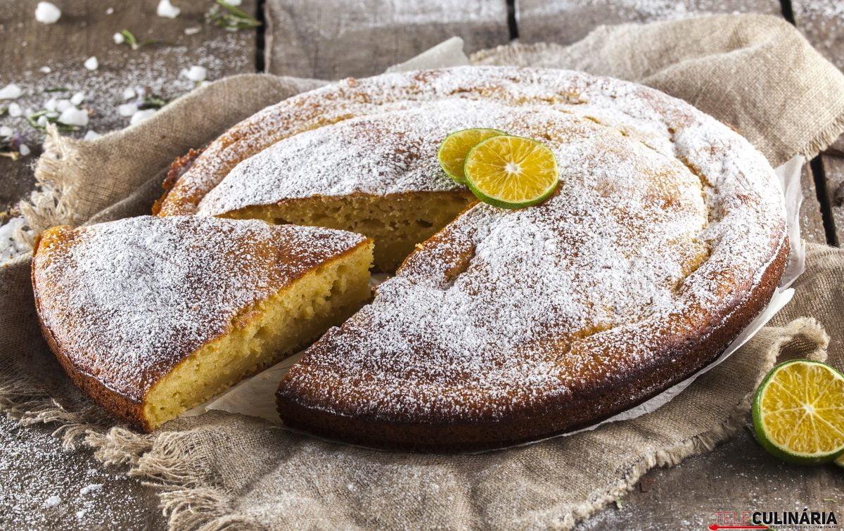 bolo de requeijão e laranja