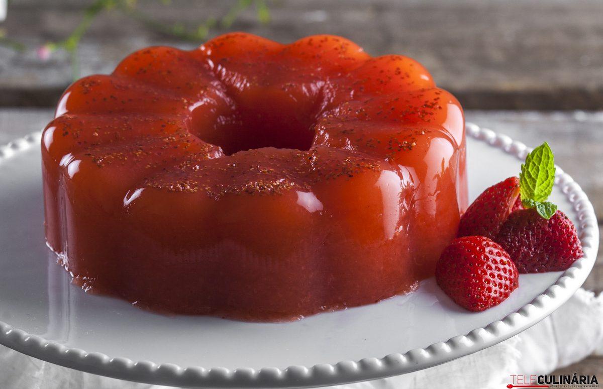 gelatina de morangos energetica