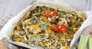 Tarte de pescada e grelos