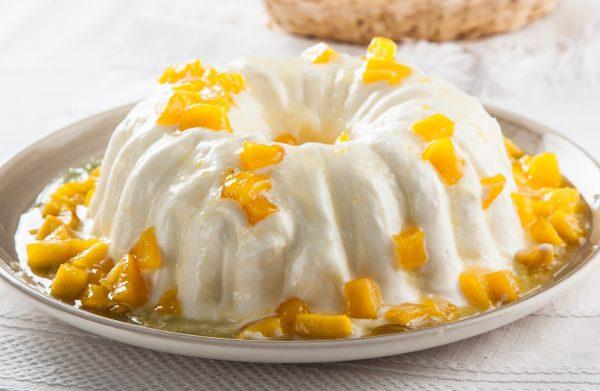 delicia de iogurte com nectarina