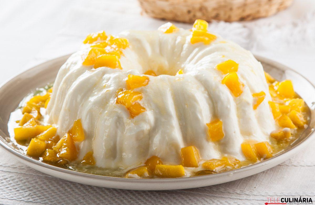 Delícia de iogurte e nectarinas