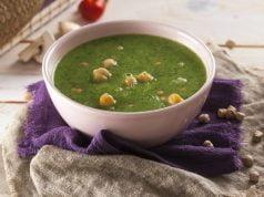 sopa de espinafres com grão