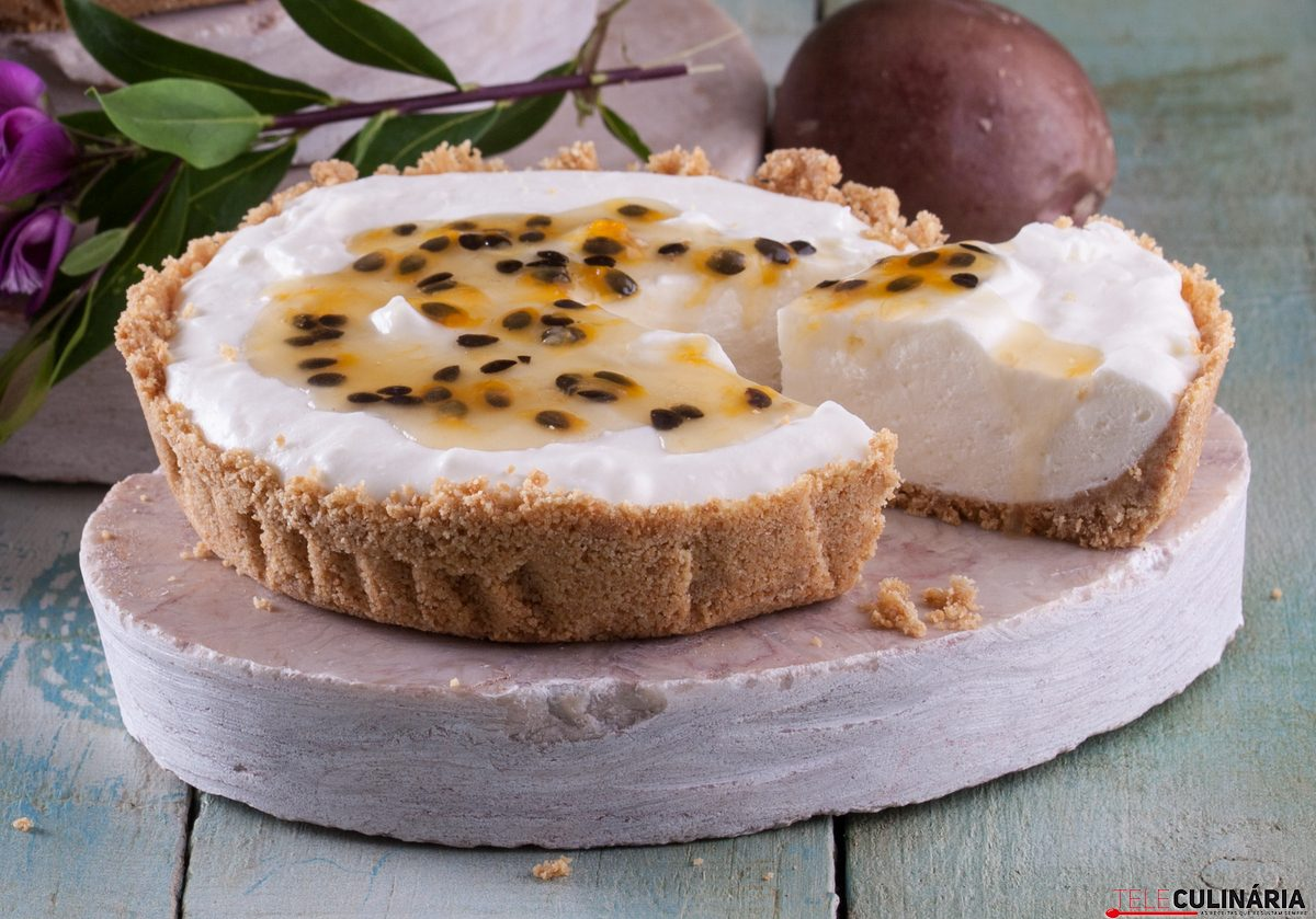 tarte cheesecake com maracujá