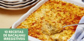 10 receitas de bacalhau irresistiveis