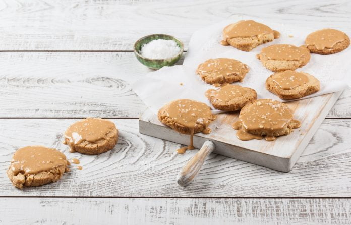 Bolachas de caramelo salgado (robot de cozinha)