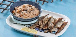 jaquinzinhos com arroz de mexilhão