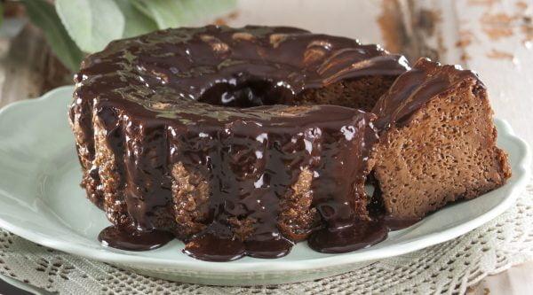 Pudim de chocolate caseiro