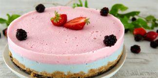 0519 Cheesecake tricolor gelatina stevia amora CHLM