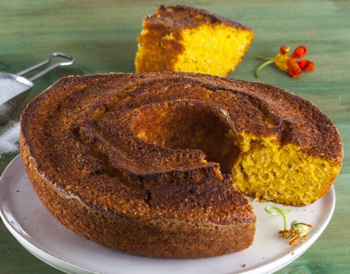 bolo de abobora e coco