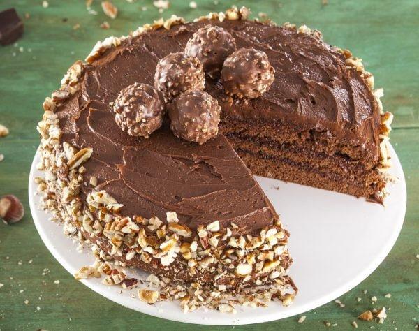 bolo de creme de avelas