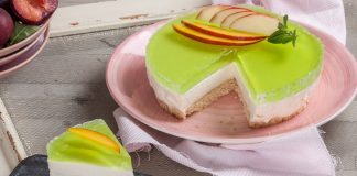 cheesecake com gelatina