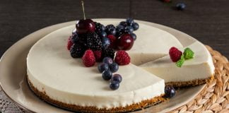 cheesecake de chocolate branco