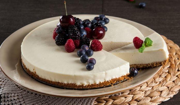 Cheesecake de chocolate branco (robot de cozinha)
