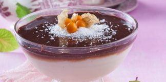 Delícia de coco e chocolate