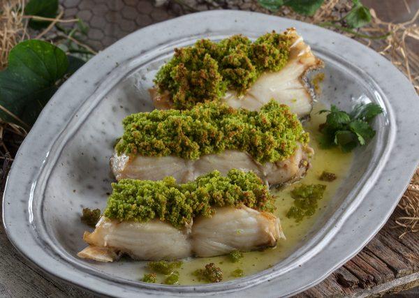 bacalhau com crosta de broa
