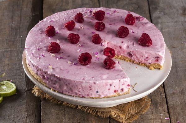 Receita de cheesecake de framboesa