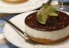 cheesecake de limao com cobertura de chocolate