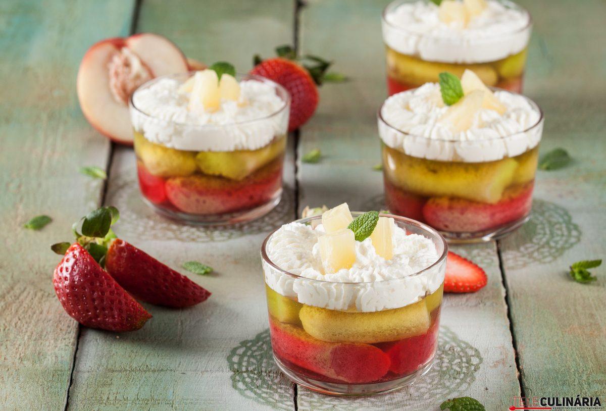 doce fresco de gelatina