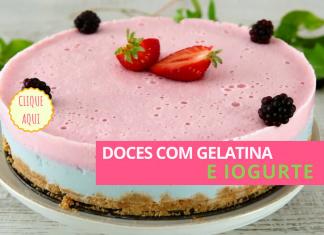 doces com gelatina e iogurte