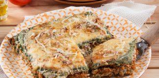 Lasanha verde com carne e espinafres (robot de cozinha)