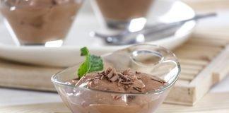 mousse de chocolate e iogurte