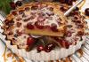 tarte de cerejas com iogurte