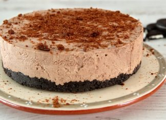 Cheesecake cremoso de chocolate