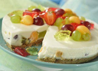 cheesecake de fruta e gelatina