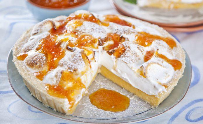 tarte de compota com creme pasteleiro