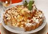 tarte de maca com compota de meloa