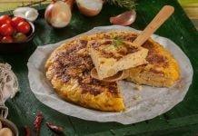 tortilha de batata e cebola a espanhola