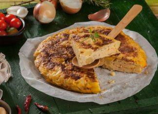 tortilha de batata e cebola à espanhola