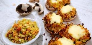 J0105 Cogumelos recheados com mozzarella CHMM