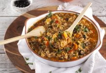 arroz de forno com entrecosto