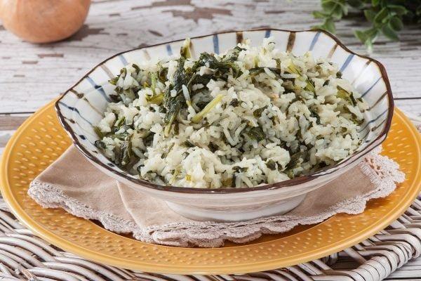 Receita de arroz de grelos