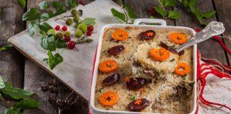 Receita de arroz de pato natalício