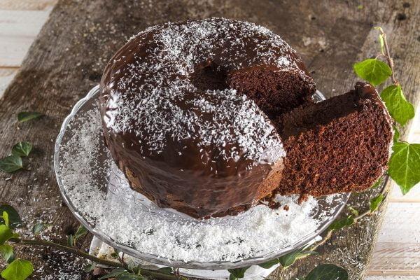 Bolo de chocolate negro (chocolate bundt cake)